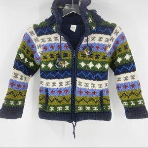 CASA DE LA LANA Hand Knit Sweater Jacket Boys 6
